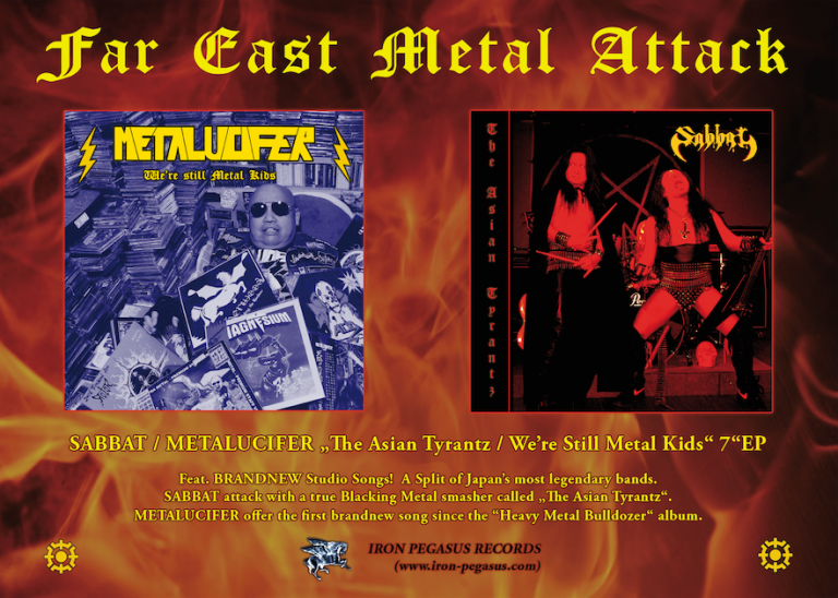"Afbeeldingsresultaat voor Sabbat / Metalucifer - The Asian Tyrantz 7"" EP"