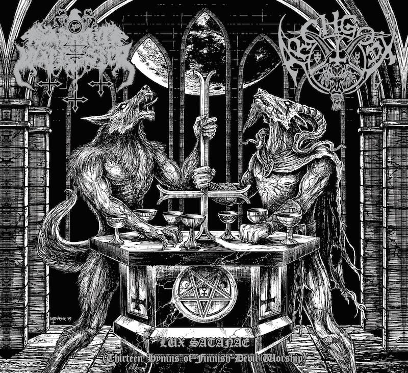 "Lucifer Lux: SATANIC WARMASTER / ARCHGOAT ""Lux Satanae"" US-LP (Silver"