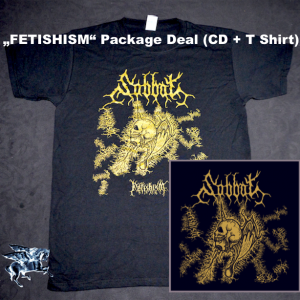 "SABBAT ""Fetishism"" T Shirt + CD (package deal)"