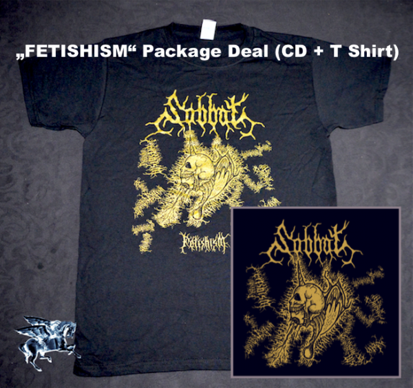 """SABBAT """"Fetishism"""" T Shirt + CD (package deal)"""