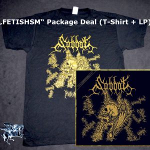 "SABBAT ""Fetishism"" LP + T Shirt (Package Deal)"