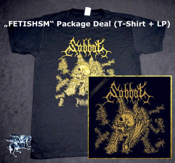 "SABBAT ""Fetishism"" LP + T Shirt (Package Deal)"